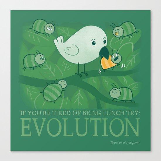 Try Evolution!  Canvas Print
