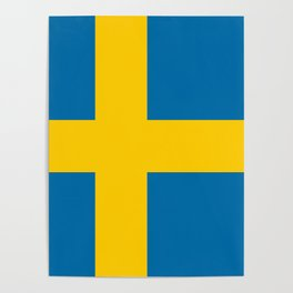 Swedish Flag - Authentic HQ Poster