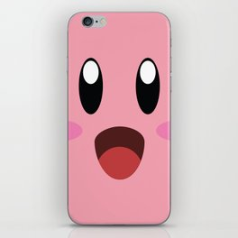 Kirby face illustration iPhone Skin