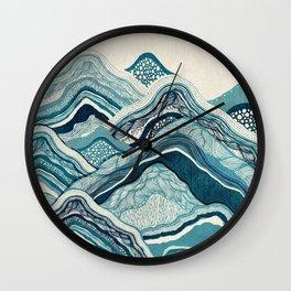 Blue Hike Wall Clock