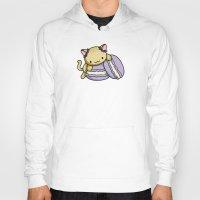 macaron Hoodies featuring Macaron Kitty by Fushigi na Ringo