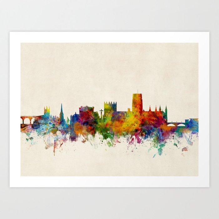 Durham England Skyline Cityscape Art Print By Artpause Society6