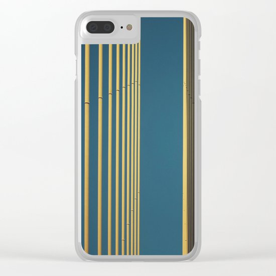 Yellow lines into the sky Clear iPhone Case