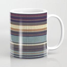 """Blue lines burlap"" Coffee Mug"