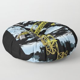Tower Crane In The SKY Floor Pillow
