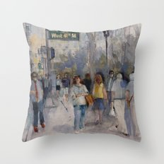 West 42nd Street - What's the Hurry. Throw Pillow