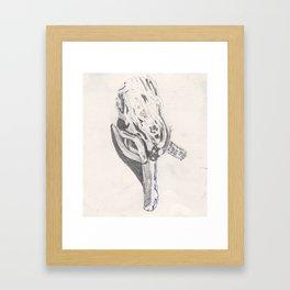 Found Branch Framed Art Print