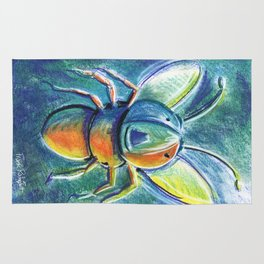 Firefly For Children Pastel Chalk Drawing Rug