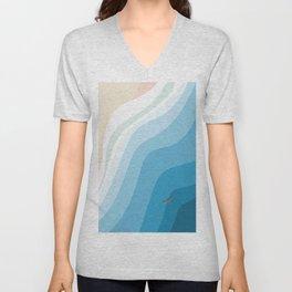 Shark Beach  Unisex V-Neck