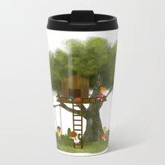 Tree Kids House Metal Travel Mug