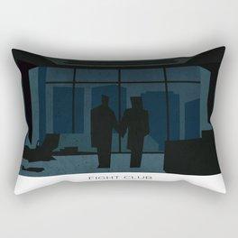 El club de la pelea minimalista Rectangular Pillow