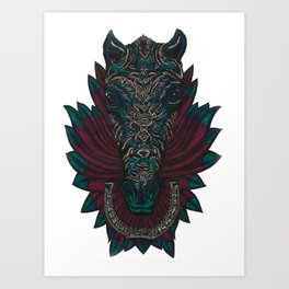 Steed and Quill Art Print