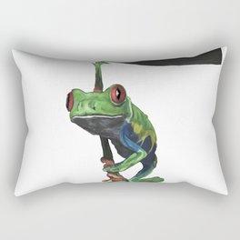 Red Eyed Tree Frog Rectangular Pillow