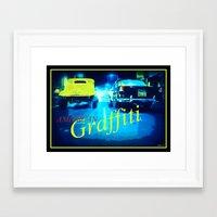 graffiti Framed Art Prints featuring Graffiti by elkart51