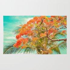 Summery Trees in Hawaii Rug