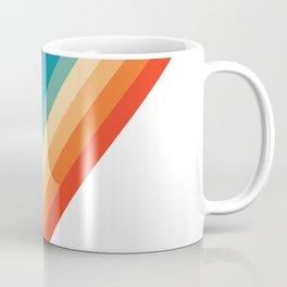 Retro 70s Stripe Colorful Rainbow Coffee Mug