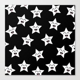 Happy Stars Canvas Print