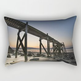 The old Peir at Holywood Rectangular Pillow