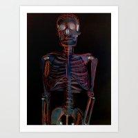 Skeleton Neurons Art Print