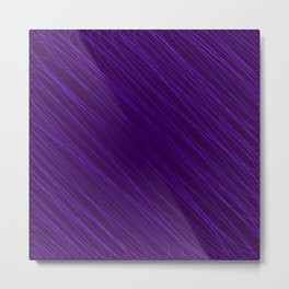 Vintage ornament of their violet threads and repetitive intersecting fibers. Metal Print