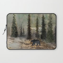 Mountain Black Bear Laptop Sleeve