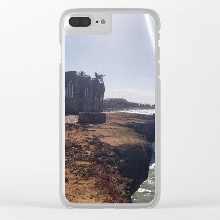 Cliffside Bungalow Clear iPhone Case