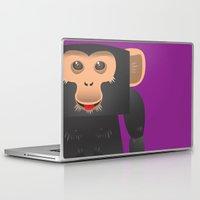 ape Laptop & iPad Skins featuring Cute Ape by Yay Paul