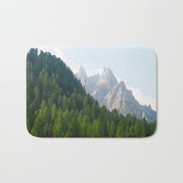 Forest Pines and Mountain Spikes Bath Mat