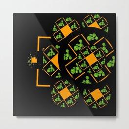 Orange and Green Spaces 105 Metal Print