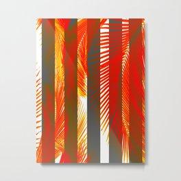 RED PALMS Metal Print