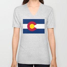 Colorado flag Unisex V-Neck