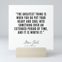 12    | Steve Jobs Quotes | 190720 Mini Art Print