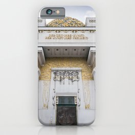 Secession building in Vienna Austria art nouveau iPhone Case