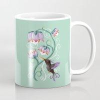 hummingbird Mugs featuring Hummingbird by Freeminds