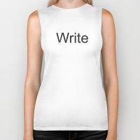 write Biker Tanks featuring Write by Empire Ruhl