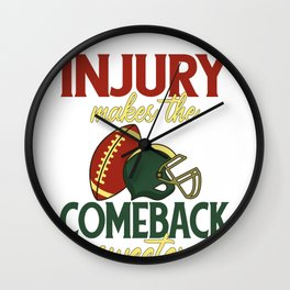 Concussion Injury Makes the Comeback Sweeter Football Concussion Wall Clock