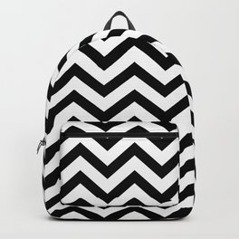 Simple Chevron Pattern - Black & White - Mix & Match with Simplicity Backpack