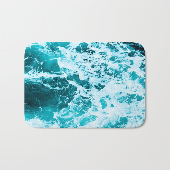 Deep Turquoise Sea Bath Mat