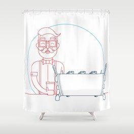 Coffee (lineart) Shower Curtain