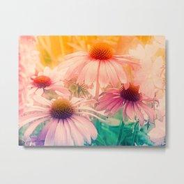 Happy Summerflowers Pastell Metal Print