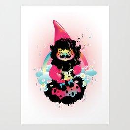 Whistling gnome Art Print