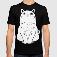 Meow Black Mens Fitted Tee SMALL