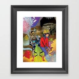 Living In a World of Monsters Framed Art Print