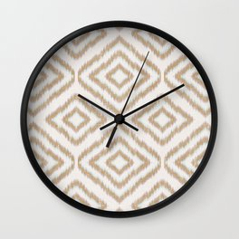Sumatra in Tan Wall Clock