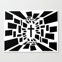christian schloe Canvas Prints featuring Christian Cross by politics