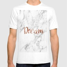 Rose gold marble dream Mens Fitted Tee White MEDIUM