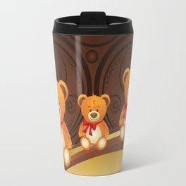Teddy bear with red bow Travel Mug