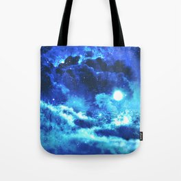 Blue on Moon Tote Bag