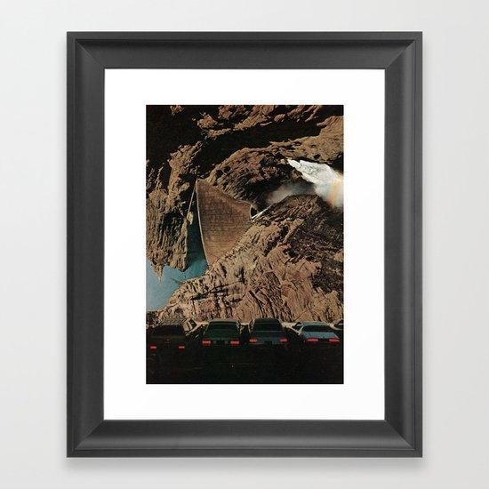 drive-in Framed Art Print