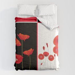 Flaming Poppies Comforters